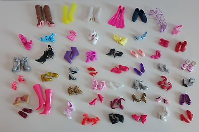 Huge Lot BARBIE Doll SHOES - 50 Pairs