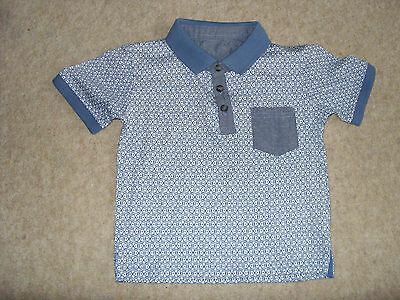 Unbranded Blue Polo Shirt Size Age 18-23 Months