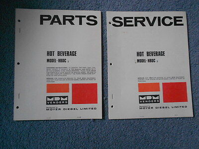 Hot Beverage Hbdc Parts And Service Manual Set Moyer Diebel Mdm Venders Orig