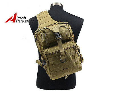 Tactical Military Molle Backpack Day Pack Outdoor Hiking Camping Hunting Bag Tan