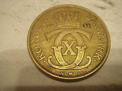 Denmark One Ore 1936 nice item see scan
