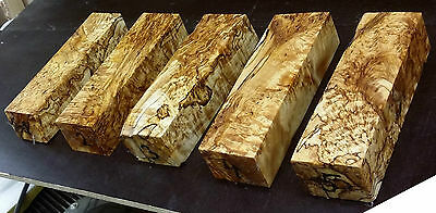 stabilized spalted karelian birch wood knife handle blank curly masur turning