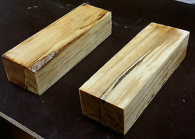 stabilized spalted baltic birch wood knife handle blanks