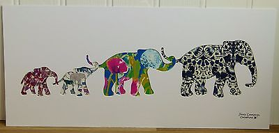 Liberty Of London Fabric Elephant Family Silhouette Picture 3347