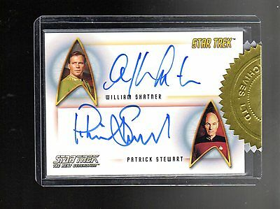 Star Trek 50th Anniversary Dual Autograph William Shatner & Patrick Stewart
