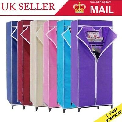 New Single Fabric Canvas Wardrobe Storage Cupboard for Student Child Kid Bedroom