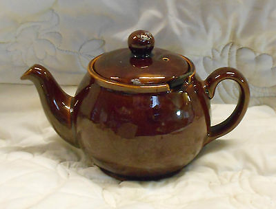 STUNNING Vintage Collectable TRADITIONAL GLAZED STONEWARE TEAPOT With FILTER