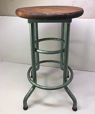 Vintage Industrial Steam Punk Stool Collectible Awesome Look Old Factory Find