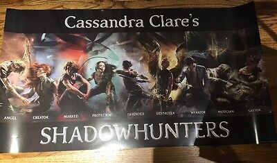 Cassandra Claire SHADOWHUNTERS Exclusive Poster New York Comic Con 2016 NYCC