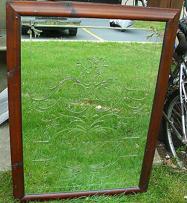 "Antique ""whisky"" Bar Mirror Home Or Business Unique Large Framed One Of A Kind!"