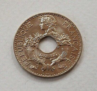 French Indo-China 1938 5 Centimes Coin - Nice Uncirculated @ No Reserve!