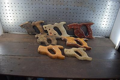 Vintage Henry Disston , Stanley Timber Saws Handles  Woodworking Old Tool
