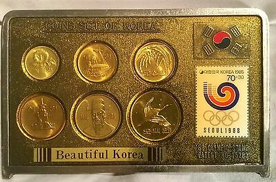 KOREA 1988 PROOF SET OF COINS  COMMEMORATIVE Olympic Games