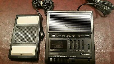 Panasonic RR-930 stenography dictating machine with Panasonic RP-2692 foot pedal