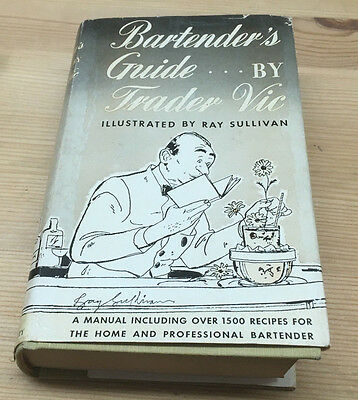Bartender's Guide by Trader Vic Illustrated Ray Sullivan 1948 Tiki Zombie