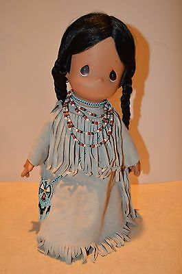 1992 Applause Precious Moments by Samuel J. Butcher Native American doll EUC