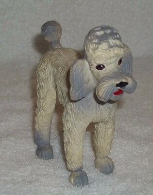 Vintage 1974 Imperial Toy Corp Rubber Standard Poodle Figurine Hong Kong No 1222