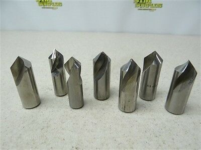 "Lot Of 7 Hss Spotting Drills 5/8"" X 90° To 3/4"" X 90° Keo"