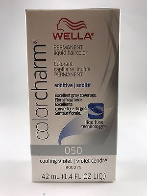100% Authentic Wella Color Charm Liquid Hair Toner 1.42 oz - 050 Cooling Violet
