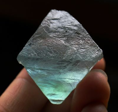 46.8g Natural Beautiful blue octahedral cubic fluorite mineral Specimen