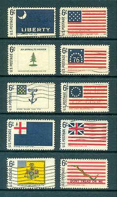 USA 1968 Historic Flags set Used. One postage for multiple buys.