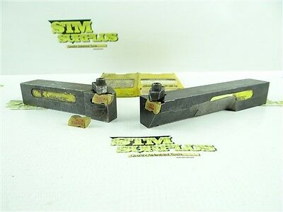 """Pair Of Kennametal Top Notch Indexable Tool Holders 1"""" Shanks + 3 New Inserts"""