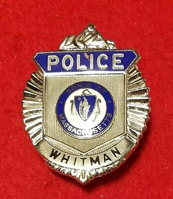 vintage and obsolete 1960s Whitman Mass police badge