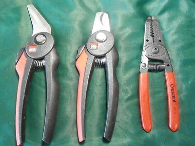 Bessy Germany Crescent Cable Cutters Wire Stripper Plier Lot of 3 NEW NEVER USED