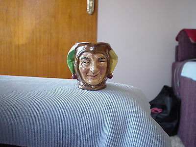 "Deceased Estate. Royal Doulton Small  Jug Toby ""Jester' D5556 Retired 1960."