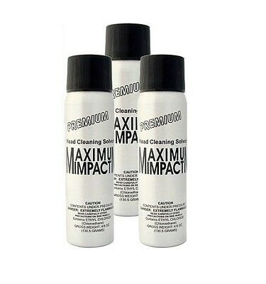 Maximum Impact Head Cleaning Solvent - 3 PACK (FREE SHIPPING)