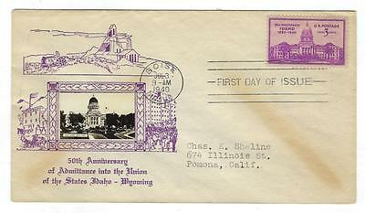 1940 USA First Day Cover - Crosby Type -Idaho & Wyoming (K120)