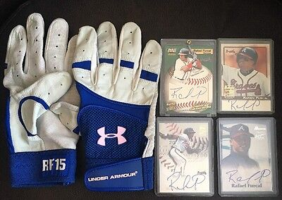 Rafael Furcal Game-Worn/Used Gloves + Autograph Rookie Lot - Dodgers, Cardinals