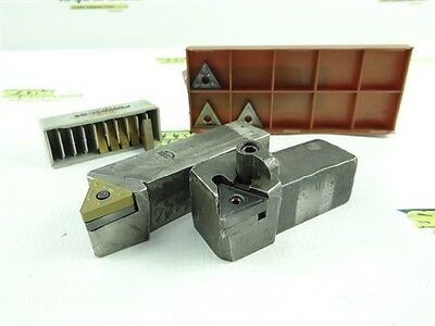 """Pair Of Indexable Stub Length Tool Holders 1"""" Shanks + 8 New Inserts Kennametal"""