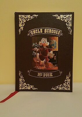 Carl Barks SIGNED LITHO Uncle Scrooge McDuck His Life and Times Leatherbound