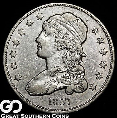 1837 Capped Bust Quarter, Solid Choice XF++, Tough Coin, ** Free Shipping!