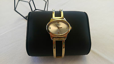 Fiorelli Womens Oval Face Watch Yellow Gold Tone