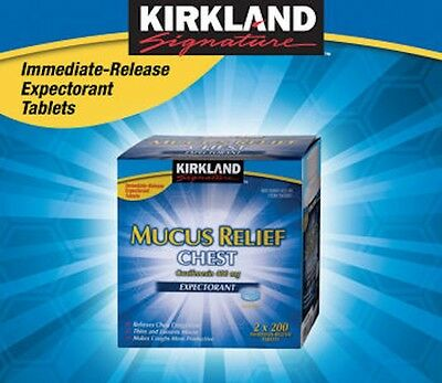 Kirkland Mucus Relief Guaifenesin 400mg Chest Expectorant 200 400 600 800 Tablet