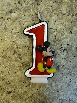 Mickey Mouse Themed Birthday Party Hand Painted Candle ANY Age Classic Clubhouse