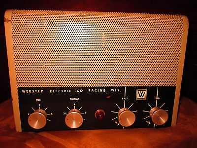 Webster Deluxe Vintage 1020-10 Tweed Era Tube Amplifier Hand Wired PA Guitar Amp