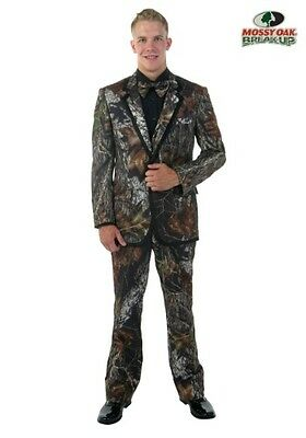 New Mens Mossy Oak Complete Package Tuxedo Set Formal Wedding Prom Camo Suit S