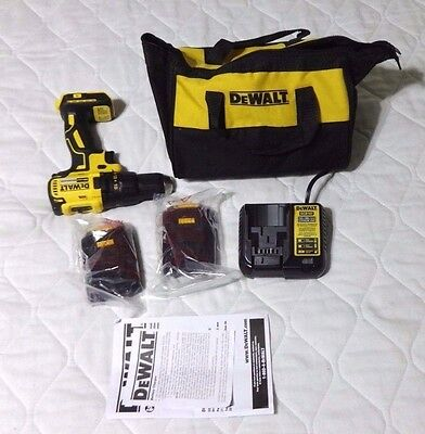 DEWALT DCD777 20V Max LITHIUM-ION BRUSHLESS COMPACT DRILL DRIVER DCB107 WITH BAG