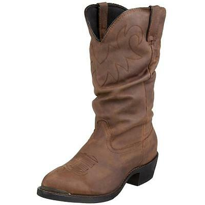 Durango 0349 Mens Brown Leather Cowboy, Western Boots 9 Extra Wide (EE)  BHFO
