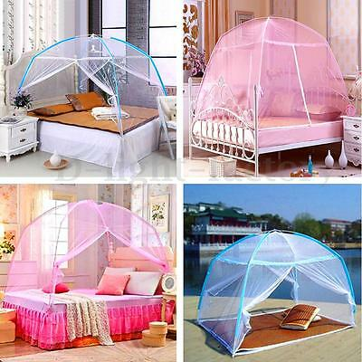 2 Color Portable Bedding Canopy Tent Mosquito Net Folding For Single Bed 1.5x 2M