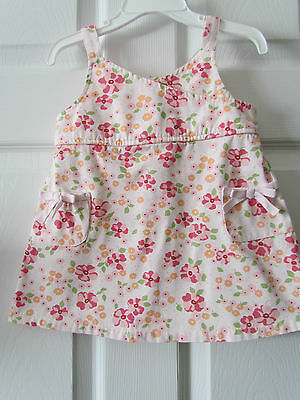 Old Navy Pink Floral Baby Toddler Girls Summer Dress Size 6-12 Months