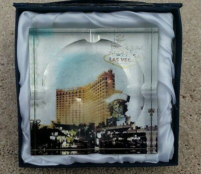 Crystal Las Vegas Treasure Island Hotel Casino Ashtray