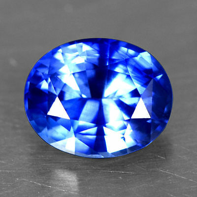 1.80 Cts Natural Certified Royal Blue Sapphire Oval Cut Ceylon Loose Gemstone $