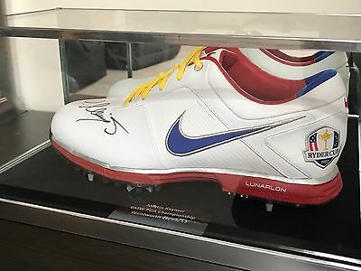 Nike Ryder Cup Golf Shoe Signed By Martin Kaymer! & Glass Display Case