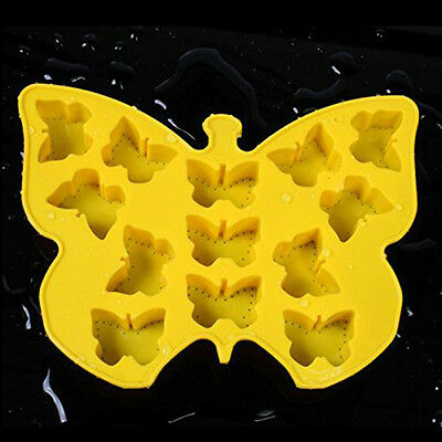 Butterfly Shape Soft Silicone Fondant Decorating Soap Polymer Clay Cake Mould 3D