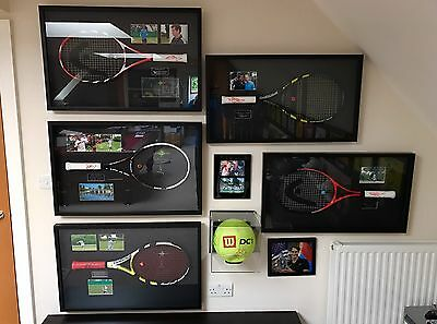 Collection Of Signed Tennis Rackets By World's Best Including Murray, Djokovic!!
