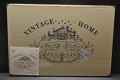 Set Of 4 Placemats - Country Kitchen, Vintage Home (Nwot)